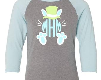 Monogrammed Bunny Raglan T-Shirt