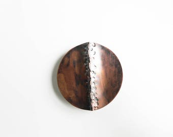 Modernist copper brooch, Contemporary jewelry, handmade jewelry, Copper brooch, Contemporary copper brooch, fold formed copper,