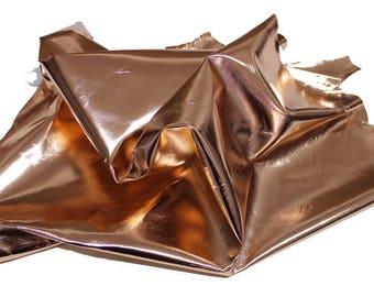 Italian Lambskin leather skin skins hide hides METALLIC ROSE GOLD 5sqf