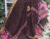 Rabari wedding shawl, Banjara shawl, Dhabli shawl, Rabari wool throw, Rabari embroidered throw, Indian Tribal shawl, Boho tribal textile,
