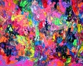 Dischromy 3 - 59x24 inches - XL Large Abstract Big Painting FREE SHIPPING - Ready to Hang, Original Unique Ooak Modern Canvas Wall Art Decor