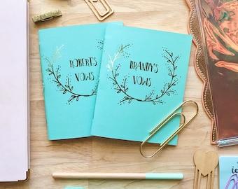 Customized Wedding Vow Books (Set of 2)