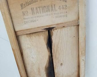 National Washboard Co No 442 Made in USA Chicago Memphis Rustic Farmhouse Decor
