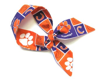 Clemson Scarf, Skinny Scarf, Clemson Tigers, Neck Scarf, Purse Scarf, Clemson Football, Clemson Spirit, Clemson Accessories, Ready to Ship