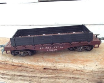 HO Scale Flat Car - Pennsylvania- Gondola - Roundhouse Products - Model Railroading - train layout - Train collector - original box