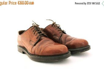 SALE 20% off Vintage shoes, Brown Leather Mens Shoes, Men's Shoes Oxfords, Size 8, Vintage men's shoes,