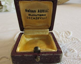 Old French little bijoux ring, jewellery box.