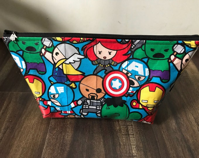 Handmade Kawaii Marvel Large Makeup Bag