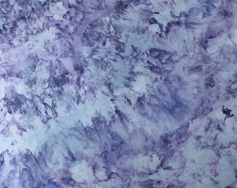 Ice Dyed Fabric, Blooming Hydrangeas #5, Fat Quarter (MB) #40