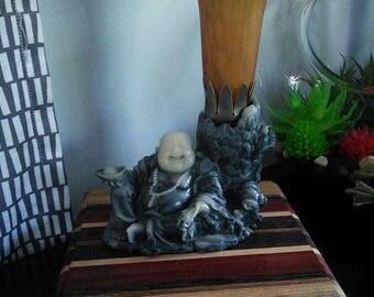 Upcycled Buddha Lamp