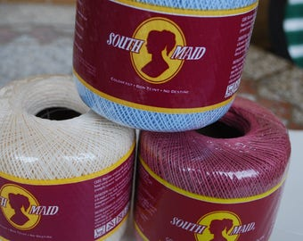 3 ball of  South Maid Mercerized Cotton  Crafts Thread