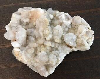 Fairy Druzy Quartz Cluster, craft rocks, vintage rocks, rock specimen, shimmer quartz, glitter Quartz, display crystal, druzy quartz