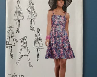 Inspired by Project Runway Simplicity Dress Pattern 0346 Uncut U.S. Size 12-20
