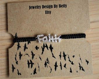 Faith Bracelet Inspirational Macrame Bracelet Friendship Bracelets - You Pick Color - Religious Bracelets Bridesmaid Jewelry Accessories