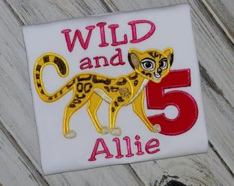 Fuli Birthday Shirt / Personalized / Cheetah