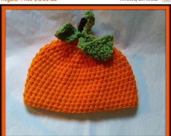 On Sale Pumpkin Hat Adult Size Handmade Crochet Made to Order