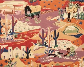 ON SALE Southwest Fabric, Santa Fe Tubac Trail by Alexander Henry, Southwestern Fabric, Mexican Fabric, Southwestern Trail Fabric, 145536
