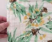 Organic Cotton Muslin Baby Wrap. Double Gauze. Swaddle Cloth. Certified Organic. Thistle and Fox Fabric Prints. Ships 4-6 weeks