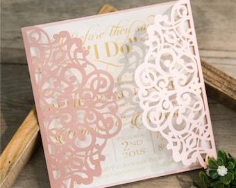 Laser cut wedding invitations for sale