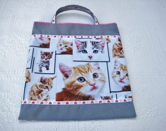 Library for kindergarten, theme cats bag
