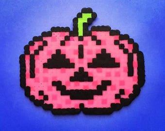 Jack O Lantern Perler Bead sprite / magnet / fuse beads / hama beads / horror / Pixel art