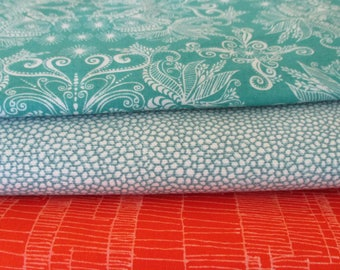 FREE SHIPPING - Quilting Fabric Bundle - Fabric by the Yard -  1/2 Yard Fabric Bundle - Total 1.5 Yards - Cotton Fabric - Designer Fabric