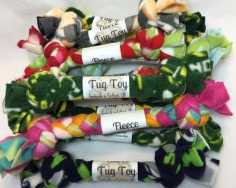 Fleece Tug Toy - Dog Toy - Fetch - Braided (pack of 3)