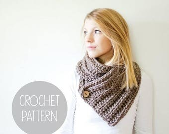 FLASH SALE crochet pattern - ribbed scarf crochet pattern - the Oxford