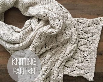 FLASH SALE knitting pattern spring lace scarf - the wisteria lace scarf
