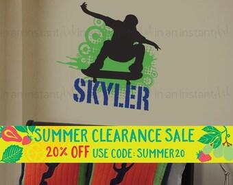 Skateboard Wall Decal | Skater Wall Sticker | Teen, Kid's or Children's Wall Decor 046