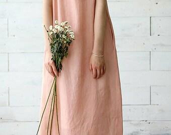 100% hand-woven natural silk Vest long dress