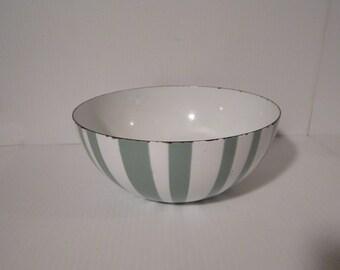 Vintage Catherineholm Green White Stripe by Grete Prytz Kittelsen 8 inch