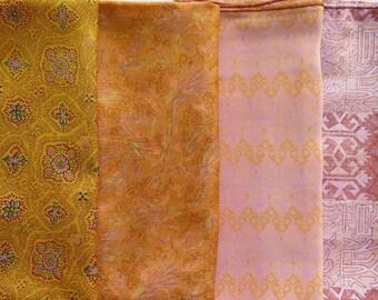 Fat Quarters, Silk Fabric, Sari Silk, FQ 1