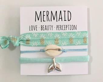 Beach jewelry, mermaid bracelets, friendship bracelet