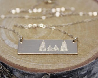 Family Forest Necklace // Bar Necklace // Personalized