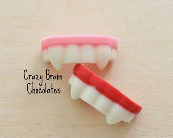 Solid Chocolate Halloween Vampire Teeth