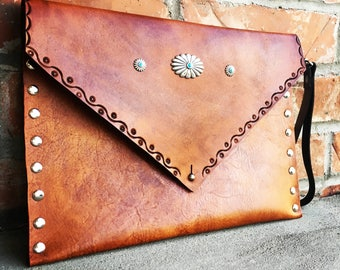 Vintage inspired envelope clutch