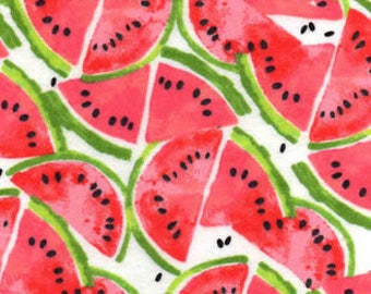 Snuggle Flannel Fabric - Watermelon Slices - Sold by the Yard