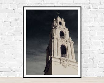 Digital download | CANTICLES | gothic church photo print | gothic architecture | Mission Dolores San Francisco | dark art print | instant