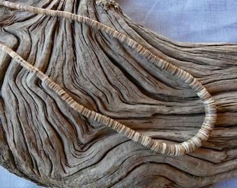20 Inch Vintage Southwestern Unisex Graduated Blond Heishi Stone Necklace