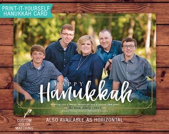Printable Hanukkah Card - Happy Hanukkah