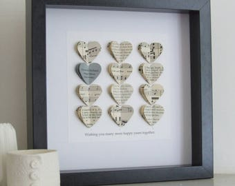silver wedding anniversary gift 25th wedding anniversary gift silver heart romantic gift - 25th Wedding Anniversary Gifts