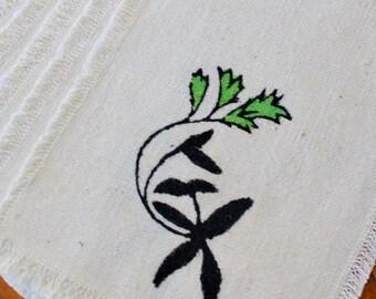 Vintage Napkins Cocktail Zarina Fabrics Handwoven Pakistan Natural Green Six 6 Unused Woven Cloth Original Package