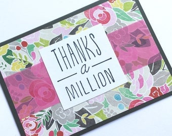 Floral Thank You Greeting Card **READY TO SHIP**