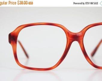 ON SALE Vintage 80's Cinnamon Tortoise Eyeglasses Frames