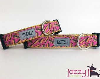 Pink Hot Dogs Summer BBQ Dog Collar