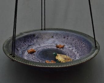 Birdbath Bird Feeder Pottery Small  Available now!
