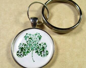 Shamrock Keychain, Shamrock Key Fob, Shamrock Key Ring, Shamrock Gifts, Irish Keychain, Irish Key Ring, Irish Key Fob, Irish Gifts