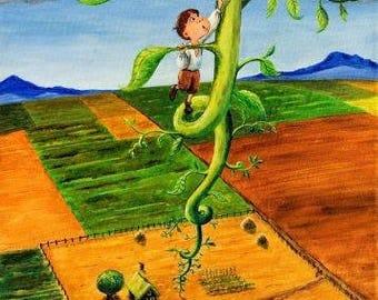 Jack and the Beanstalk - Original Painting Art Print