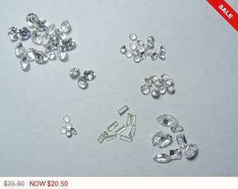 CZ faceted stones lot, Cubic Zirconia, natural gemstone, loose gemstone (CZ6971)